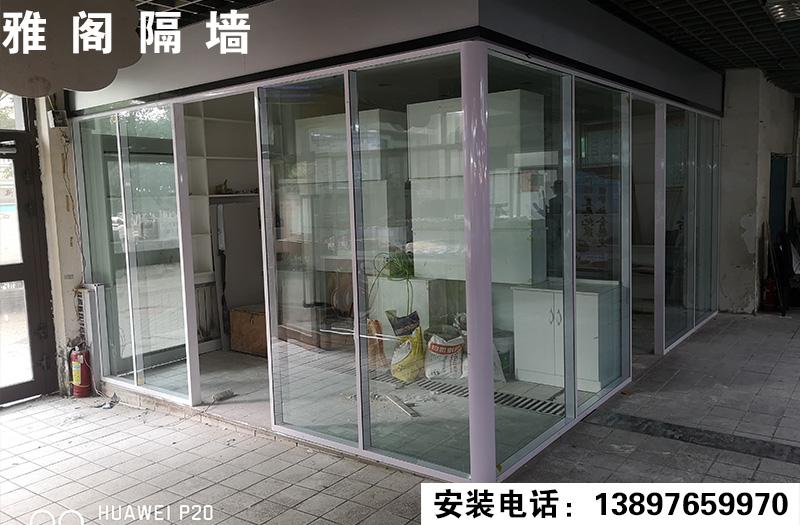 贾小庄农贸市场双层透明完工
